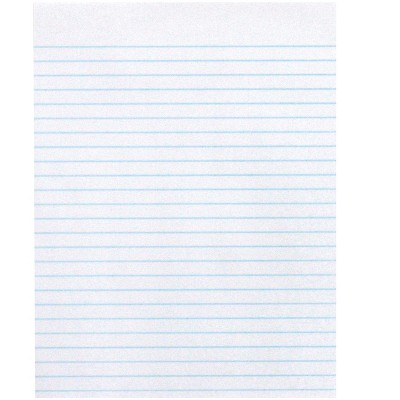 School Smart Composition Paper, No Margin, 8 x 10-1/2 Inches, White, 500 Sheets