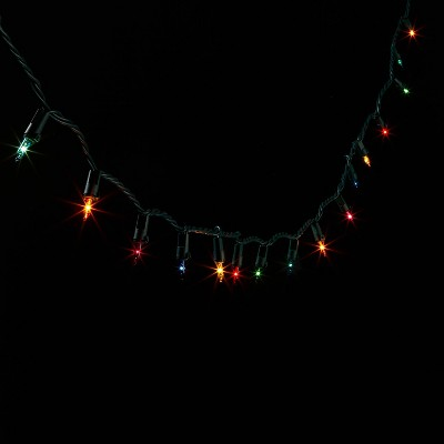 100ct Incandescent Smooth Twinkle Mini String Lights Multicolor with Green Wire - Wondershop™