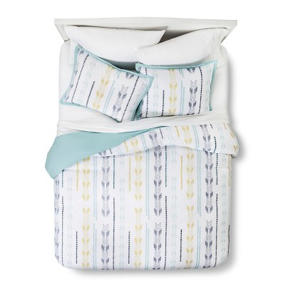 Aqua Arrow Print Duvet Cover Set (King)- Room Essentials™