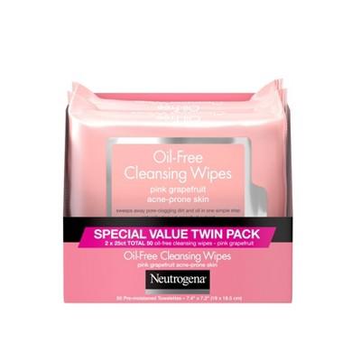 Neutrogena Oil-Free Cleansing Wipes - Pink Grapefruit - 50ct/2pk