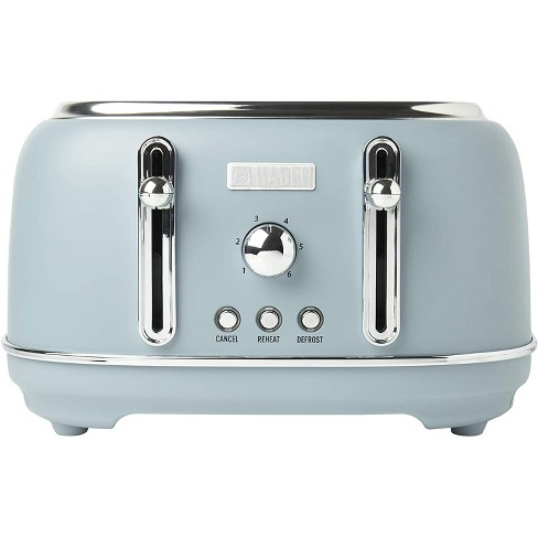 Haden Highclere Innovative 4 Slice Retro Vintage Countertop Wide Slot Toaster Kitchen Appliance with Self Centering Function, Pool Blue - image 1 of 4