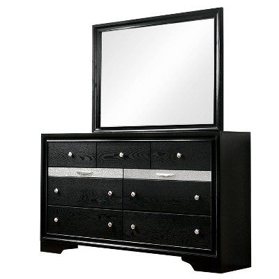 2pc Whether by Dresser and Mirror Set Black - miBasics