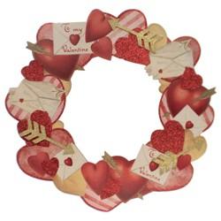 """Valentine's Day 18.5"""" Valentine Dummy Board Wreath Retro Look"""