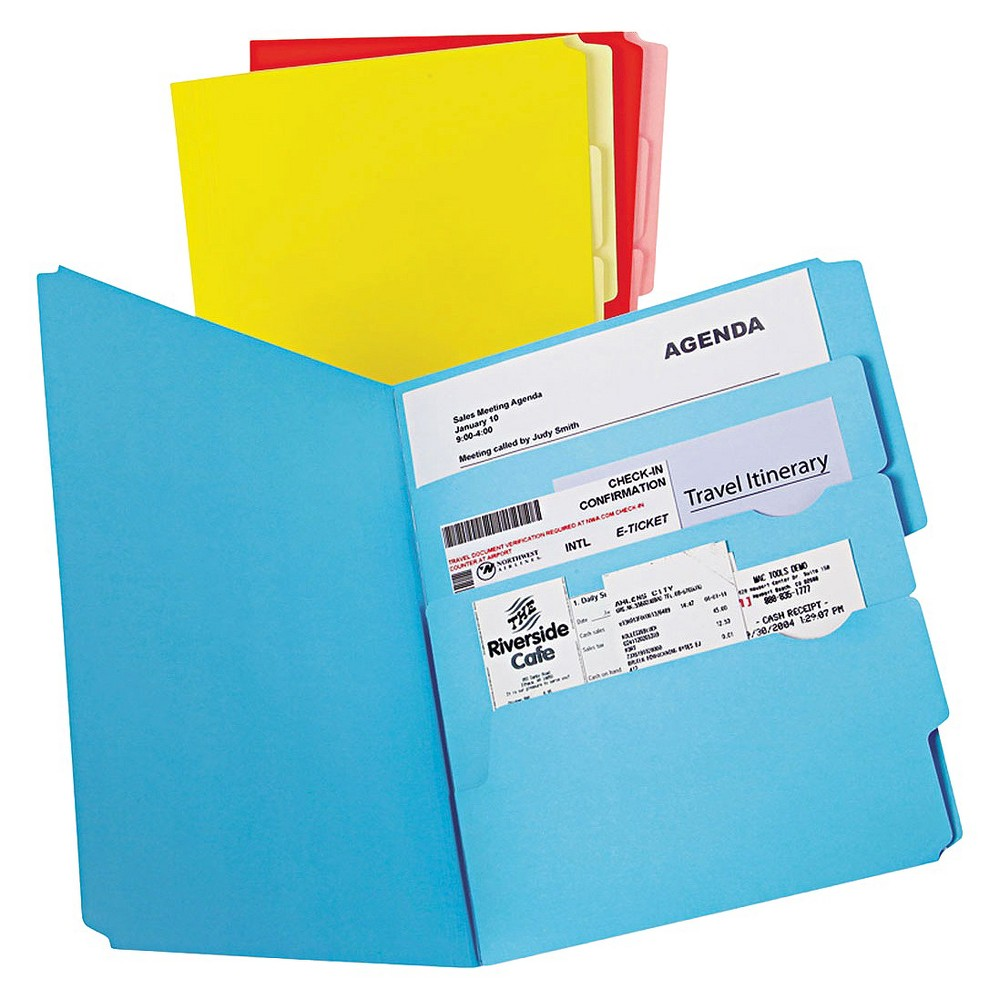 Image of Pendaflex Divide it Up File Folder, Multi Section, Letter, Assorted, 12/Pack