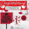 Red Congratulations Graduation Party Banner - image 2 of 2