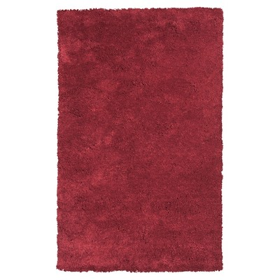 """Bliss Red Solid Woven Accent Rug 27""""x45"""" - KAS Rugs"""