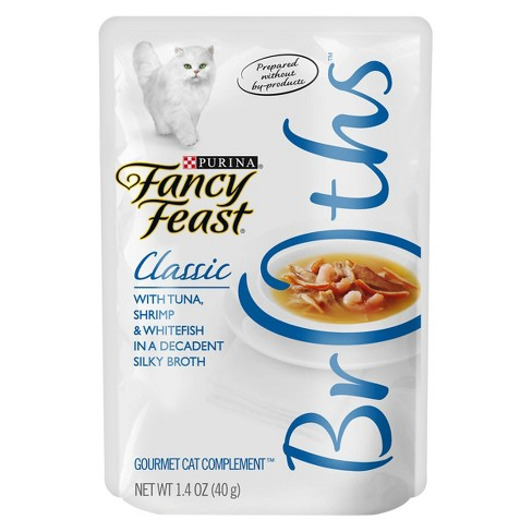 Purina Fancy Feast Broths Classic (Tuna, Shrimp & Whitefish) - Cat Food - 1.4oz Pouch - image 1 of 4