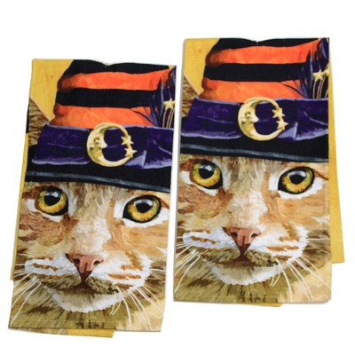 "Halloween 26.0"" Witch Cat Chuck Towel Flour Sack Towel  -  Kitchen Towel"