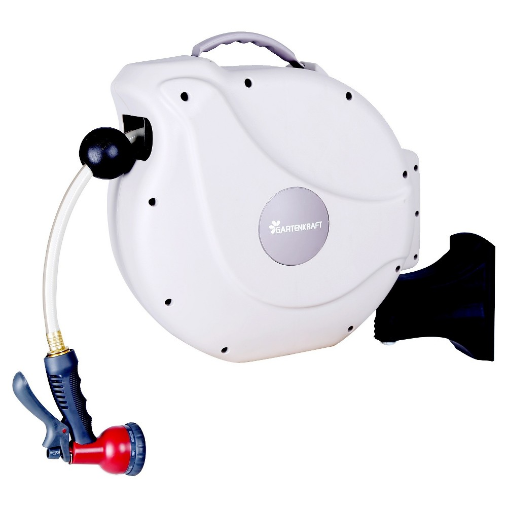 Gartenkraft NW-20S 1/2 65' retractable hose reel - Sunneday, Ivory