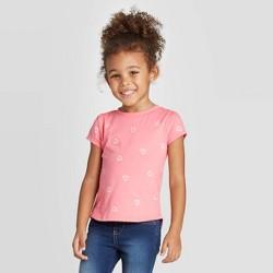 Toddler Girls' Short Sleeve Heart Print T-Shirt - Cat & Jack™ Pink