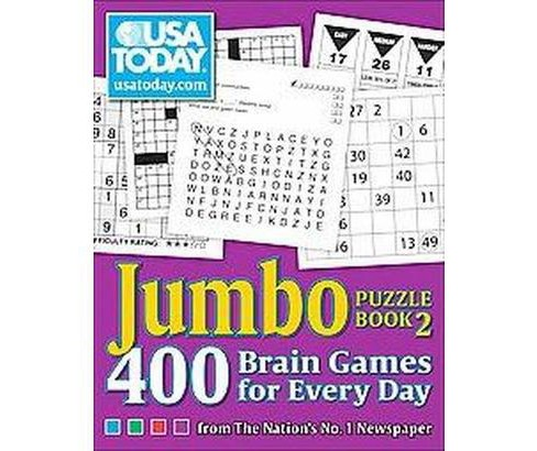 USA Today Jumbo Puzzle Book 2 : 400 Brain Games for Every Day (Paperback) - image 1 of 1