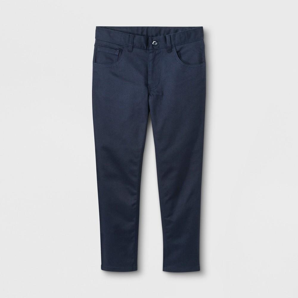 French Toast Boys' Slim Pants - Navy (Blue) 10