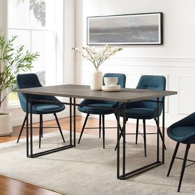 Lennox Modern Double Leg Dining Table - Saracina Home