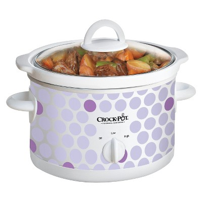 Crock-Pot 2.5-Quart Manual Slow Cooker, Polka Dot Pattern, SCR250-POLKA