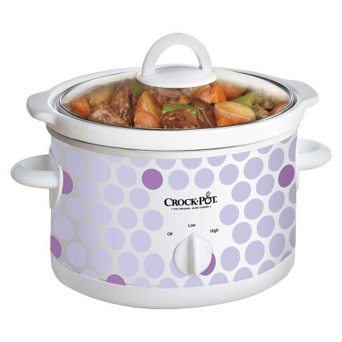 Crock-Pot 2.5-Quart Manual Slow Cooker, Polka Dot Pattern, SCR250-POLKA - image 1 of 2