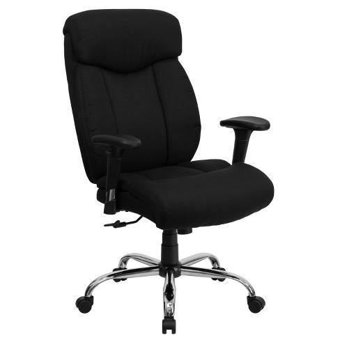 Hercules Series 400 Lb Capacity Big Tall Adjustable Executive Swivel Office Chair Black Flash Furniture