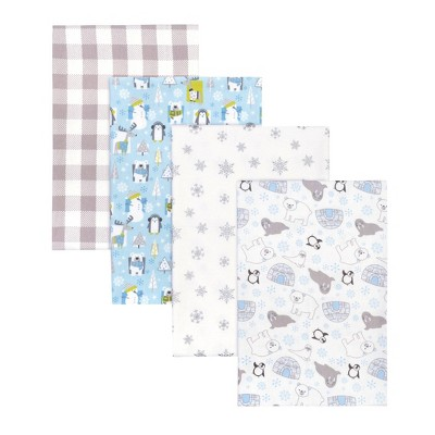 Trend Lab Igloo Pals Flannel Receiving Blankets - 4pk