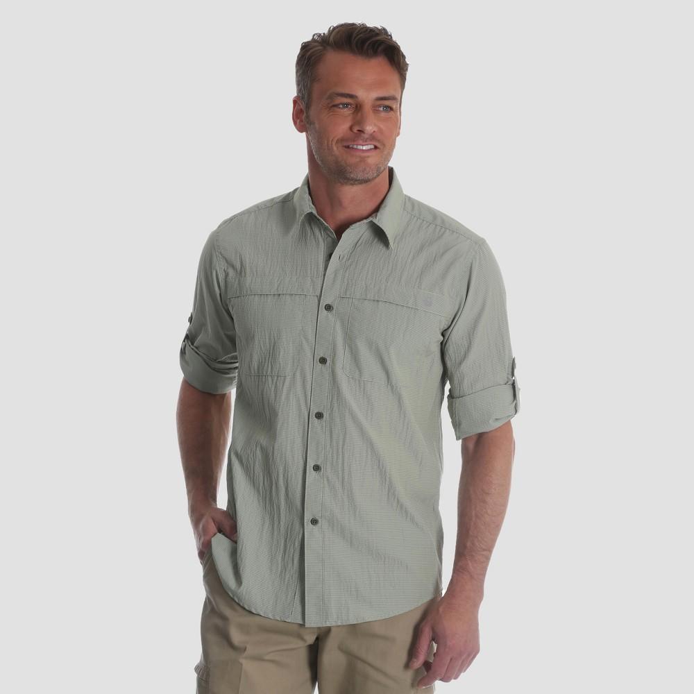 Wrangler Men's Outdoor Long Sleeve Eddie Shirt - Green L