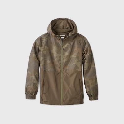 Men's Colorblock Hooded Rain Jacket - Goodfellow & Co™