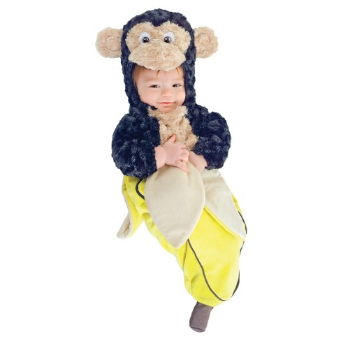 Monkey In A Banana Bunting Infant Costume 0-6 Months - image 1 of 1