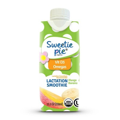 Sweetie Pie Organics Lactation Smoothie Tropical Flavor - 11.1oz/4ct