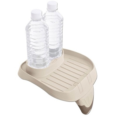 Intex 28500E PureSpa Attachable Cup Holder And Refreshment Tray Accessory, Tan