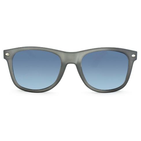d3473f1f27e7 Men's Surf Shade Sunglasses With Blue Mirrored Lenses - Matte Gray ...