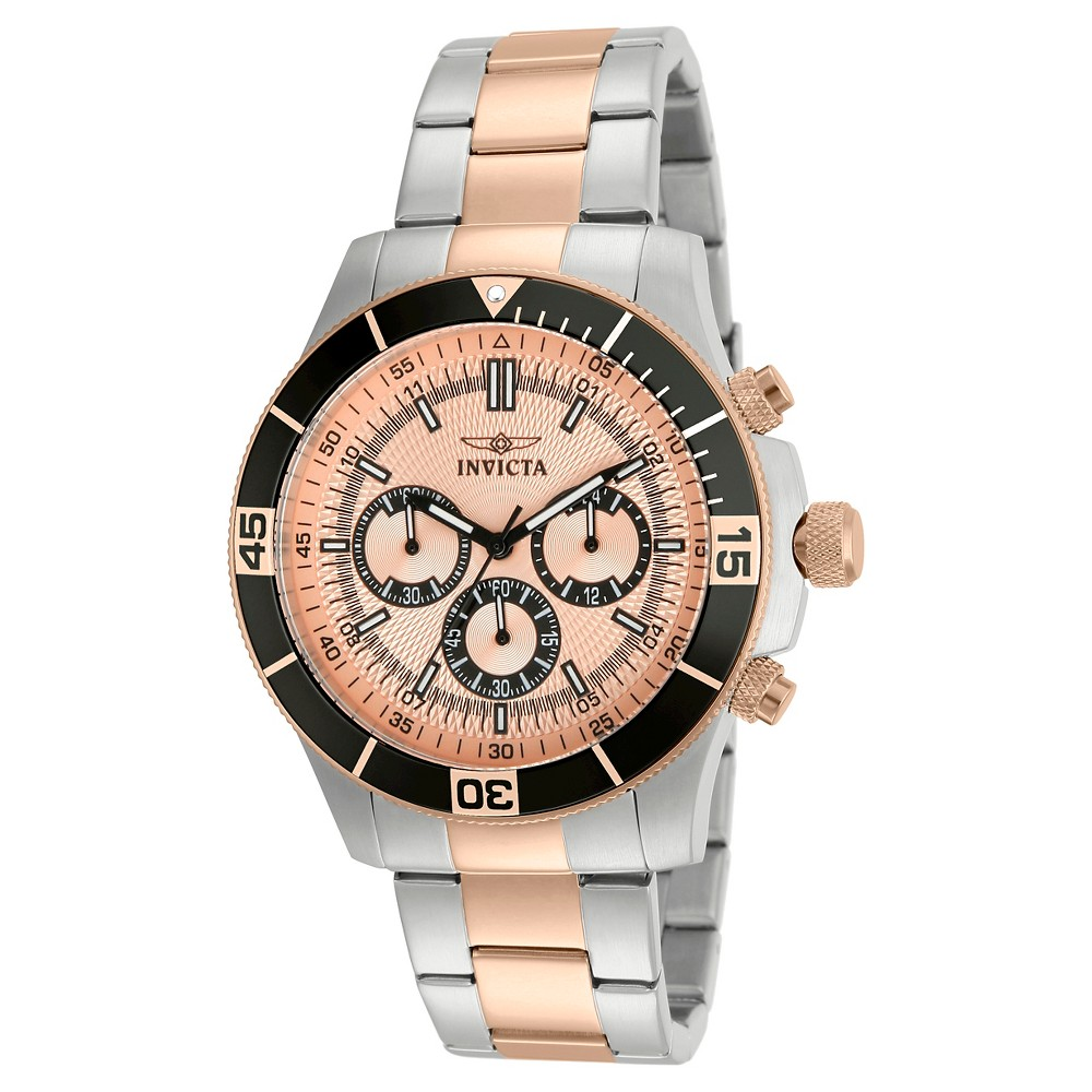 Men's Invicta 12842 Specialty Quartz Chronograph Rose Gold Dial Link Watch - Rose Gold