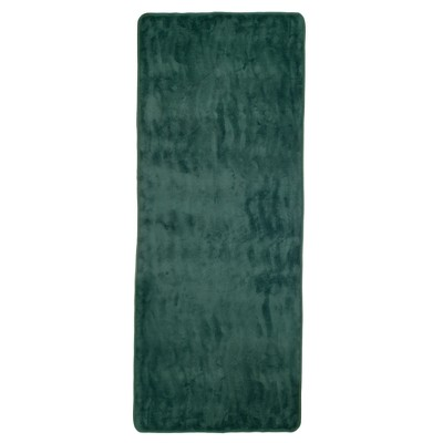 Extra Long Wave Memory Foam Bath Mat Green - Yorkshire Home