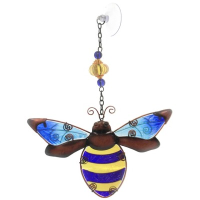 """Home Decor 10.0"""" Bee Sun Catcher Hand Painted  -  Stained Glass And Suncatchers"""