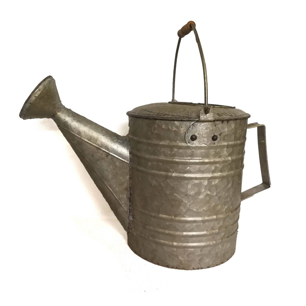Image of 3gal Rustic Watering Can Gray - Backyard Expressions