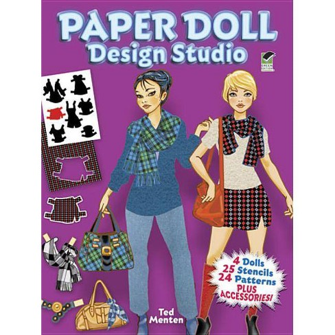 Paper Doll Design Studio - (Dover Paper Dolls) by  Ted Menten (Paperback) - image 1 of 1