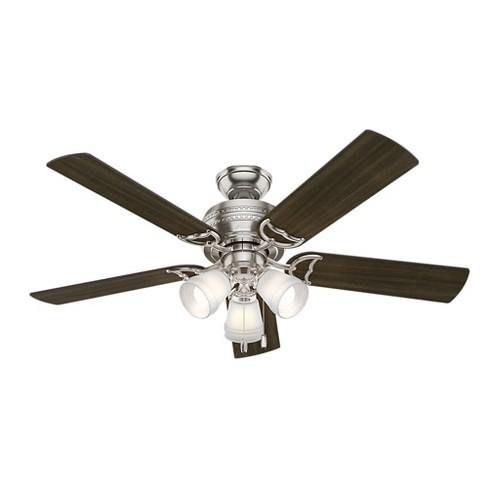 """52"""" Prim LED Lighted Ceiling Fan Brushed Nickel - Hunter Fan - image 1 of 12"""