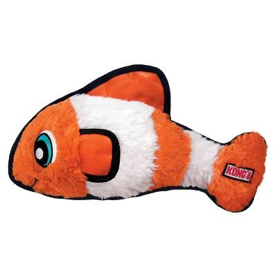 KONG Tough Plush Fish Dog Toy - Orange