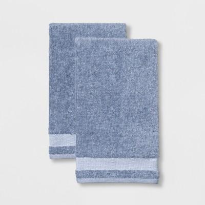 2pk Solid Bath Towel Light Blue - Made By Design™