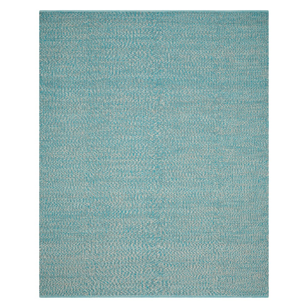 9'X12' Solid Woven Area Rug Turquoise - Safavieh, Turquoise/Multi-Colored