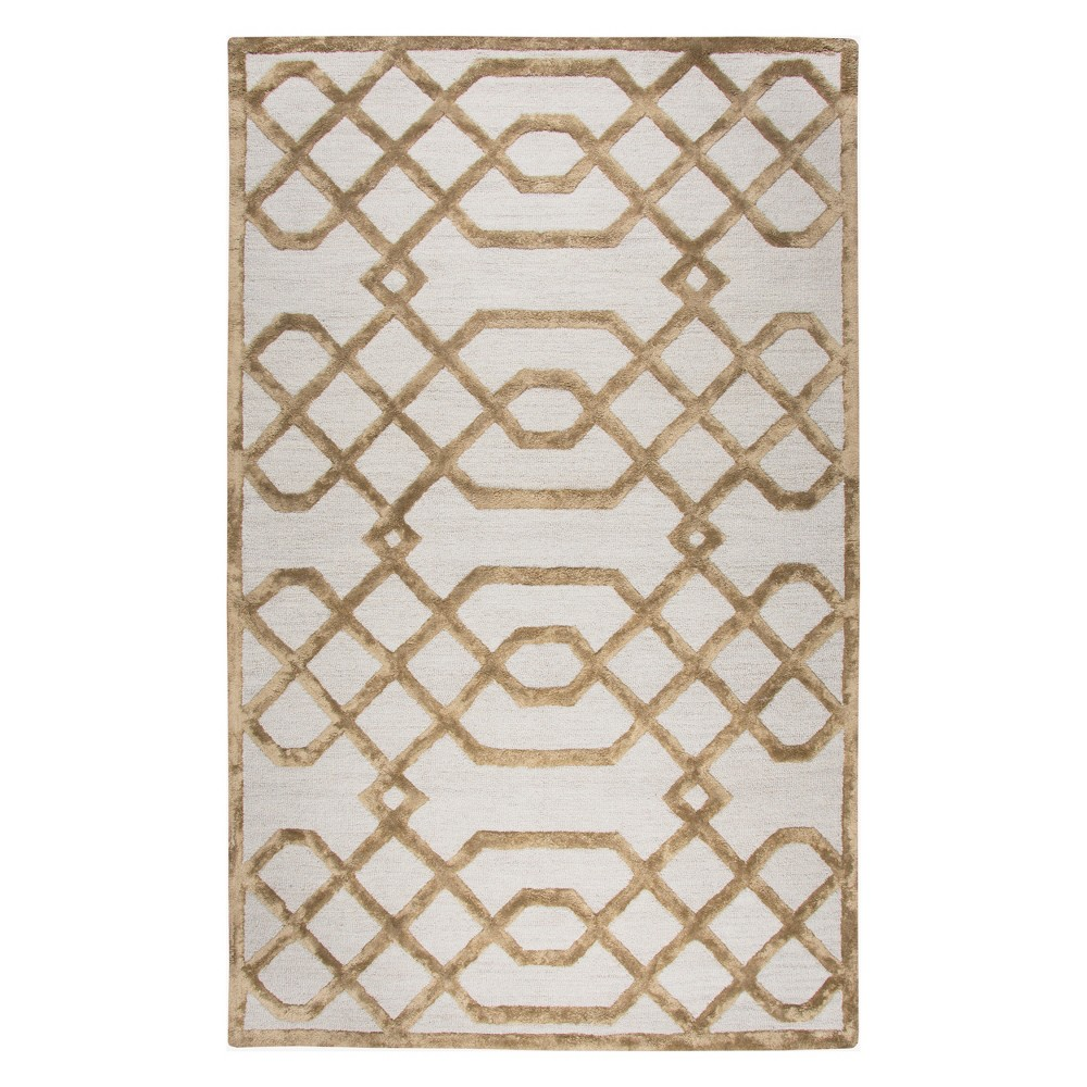 Cream (Ivory) Trellis Tufted Accent Rug 3'X5' - Rizzy Home
