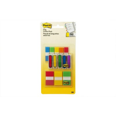 Post-it 260ct Flags Combo Pack - Assorted Colors