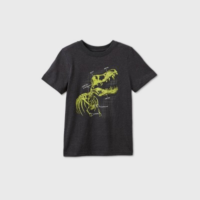Kids' Short Sleeve Dinosaur Graphic T-Shirt - Cat & Jack™ Black
