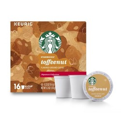 Starbucks Toffee Nut Medium Roast Coffee - Keurig K-Cup Pods - 16ct