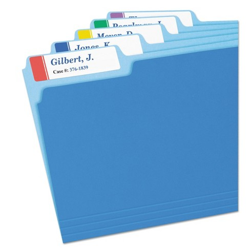 Avery® Extra-Large 1/3-Cut File Folder Labels - White/Assorted (450 Pack)