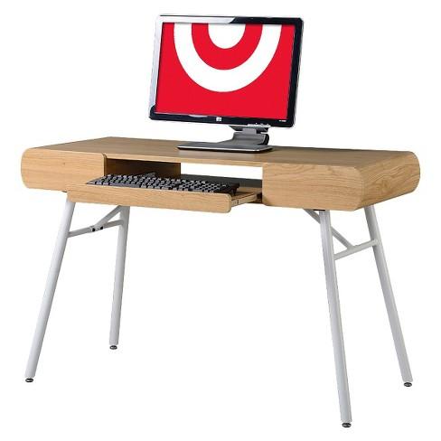 Groovy Multi Storage Writing Desk Beige White Techni Mobili Interior Design Ideas Clesiryabchikinfo