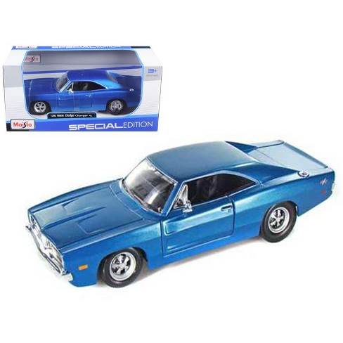 1969 Dodge Charger R/T Hemi Blue 1/25 Diecast Model Car by Maisto - image 1 of 1