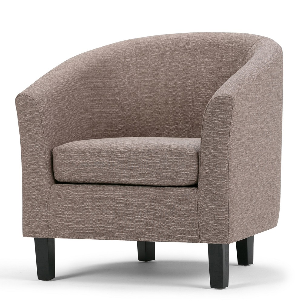 Parker Tub Chair Fawn Brown Linen Look Fabric - Wyndenhall