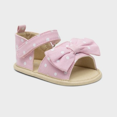 Ro+Me by Robeez Baby Girls' Big Bow Ankle Strap Sandals - 6-12M