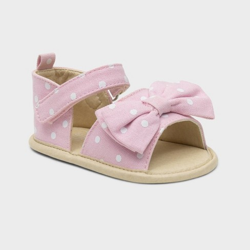 Ro+Me by Robeez Baby Girls' Big Bow Ankle Strap Sandals - image 1 of 4