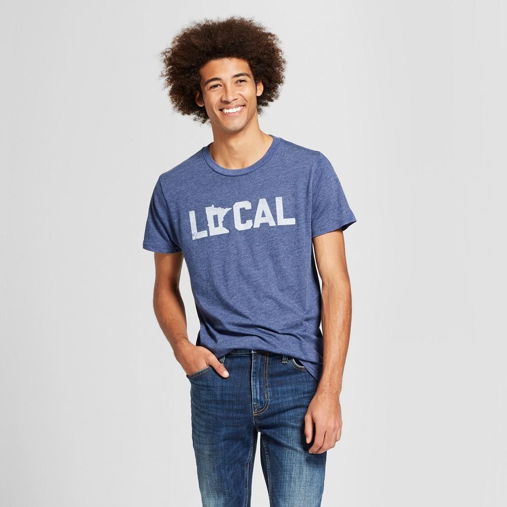Men's Minnesota Local Short Sleeve Crew Neck Graphic T-Shirt - Awake - Navy XXL, Men's, Size: XXL, Blue was $14.99 now $4.48 (70.0% off)