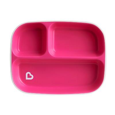 Munchkin Splash Divided Plate - Pink