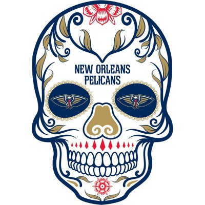 Nba New Orleans Pelicans Large Outdoor Skull Decal