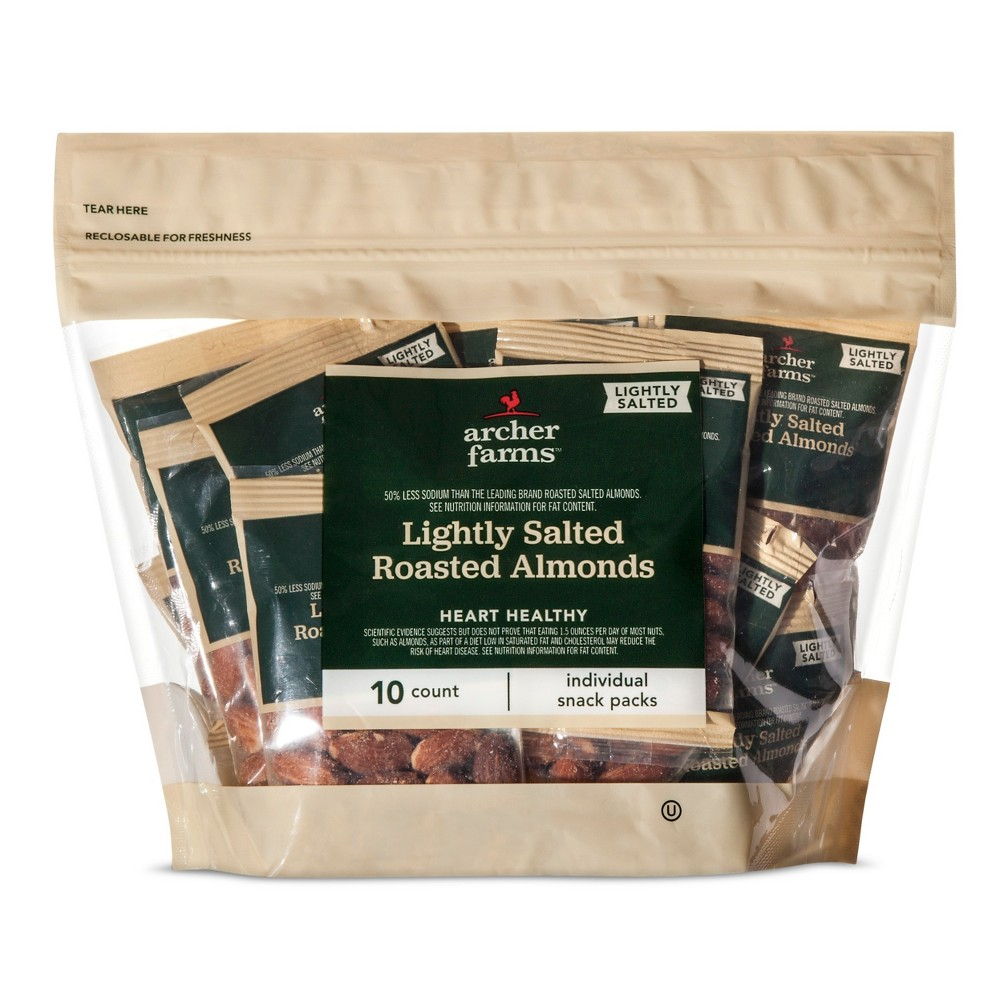 Lightly Salted Roasted Almonds 10ct -Archer Farms